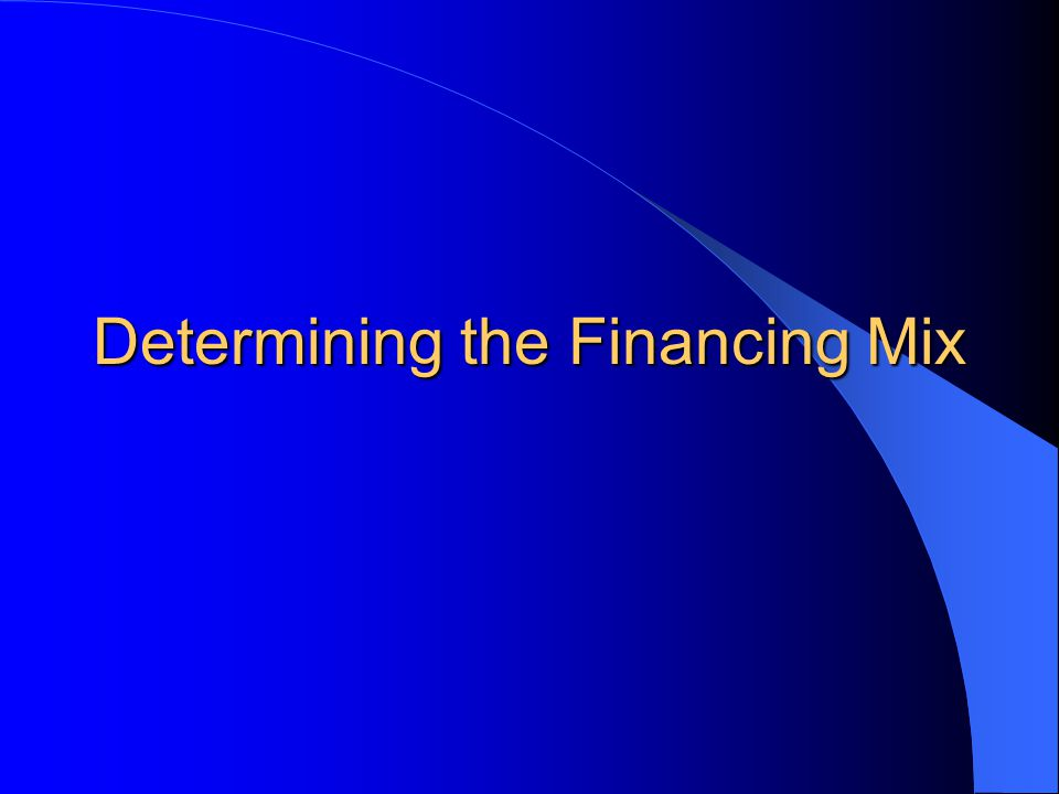 Capital Structure Management and Agency Costs Capital Structure management gives rise to agency costs.