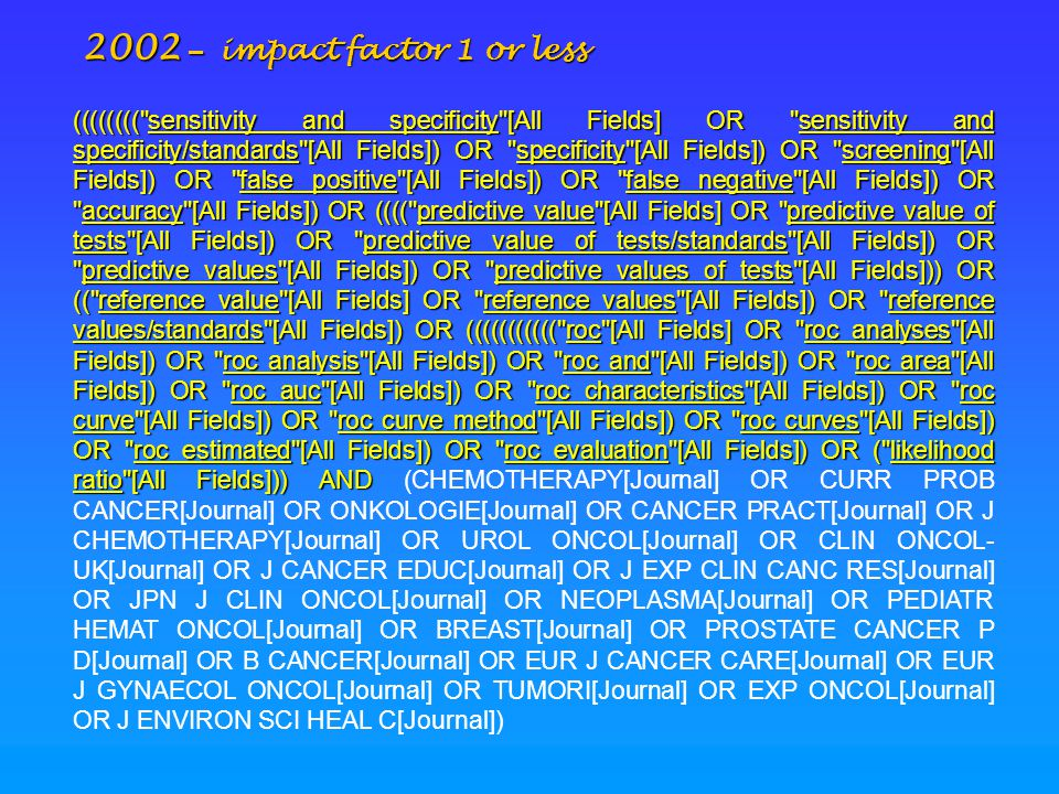 2002 – impact factor 1 or less ((((((((