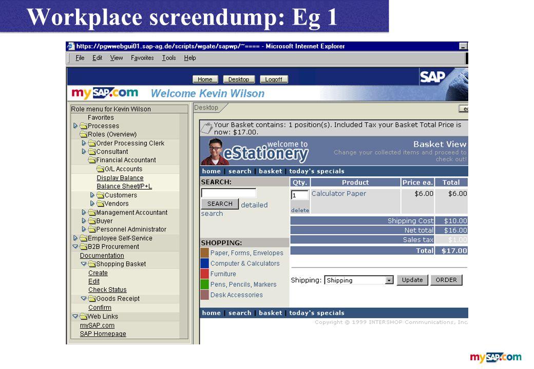 Workplace screendump: Eg 1