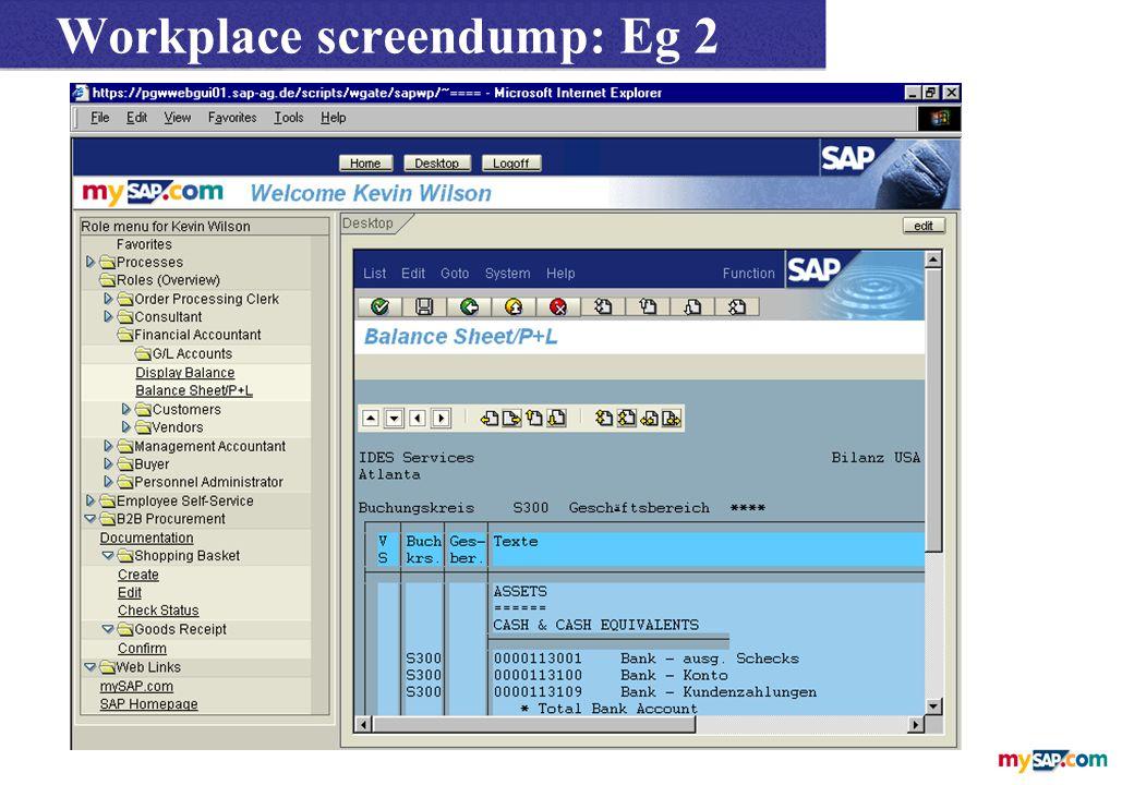 Workplace screendump: Eg 2