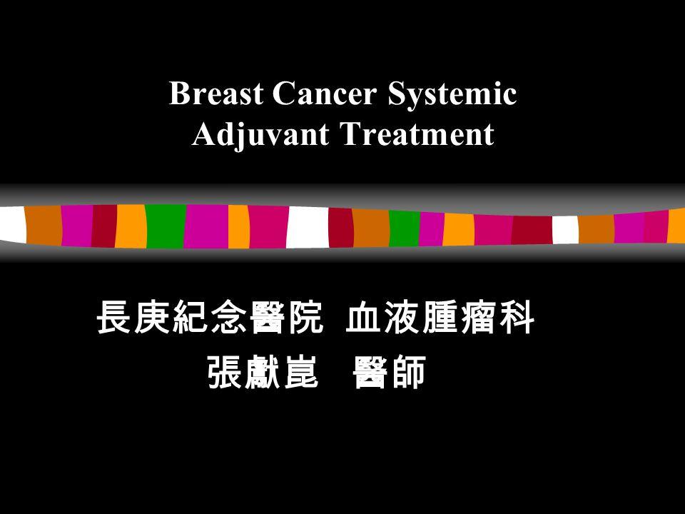 Breast Cancer Systemic Adjuvant Treatment 長庚紀念醫院 血液腫瘤科 張獻崑 醫師