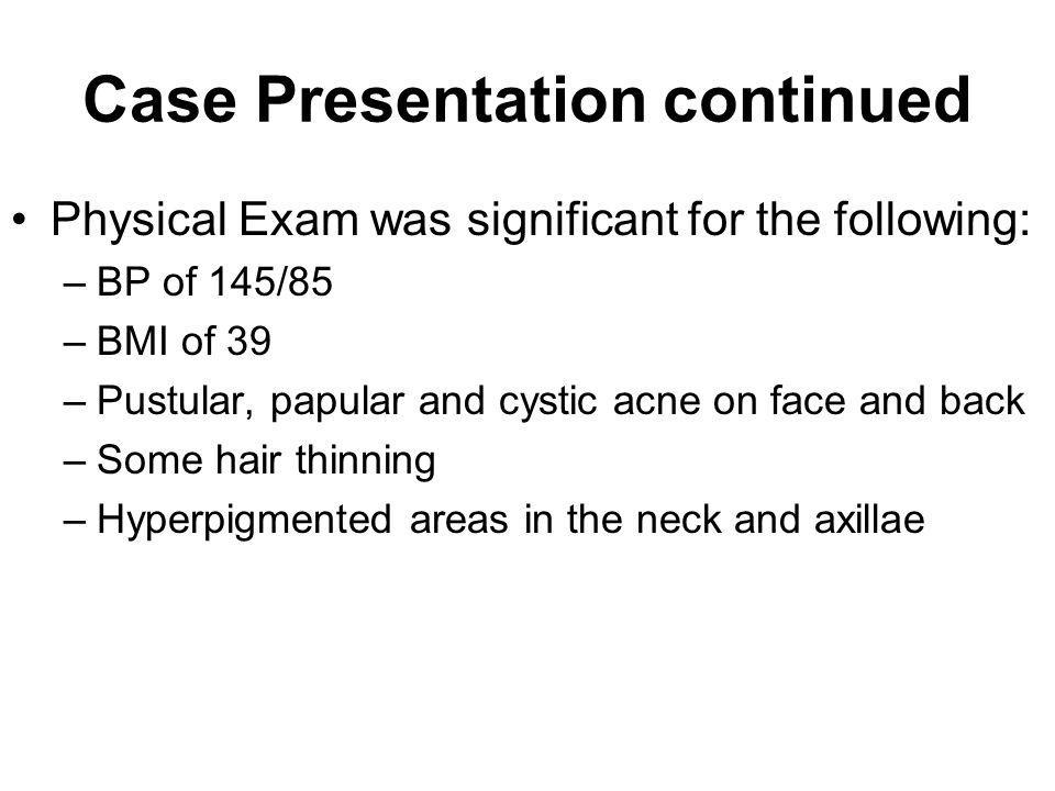 Case Presentation continued Diagnoses?
