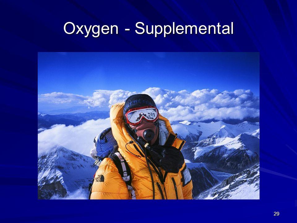 Oxygen - Supplemental 29