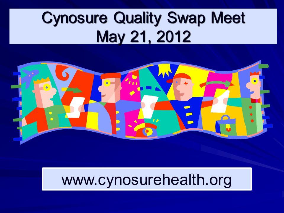 Cynosure Quality Swap Meet May 21, 2012 www.cynosurehealth.org