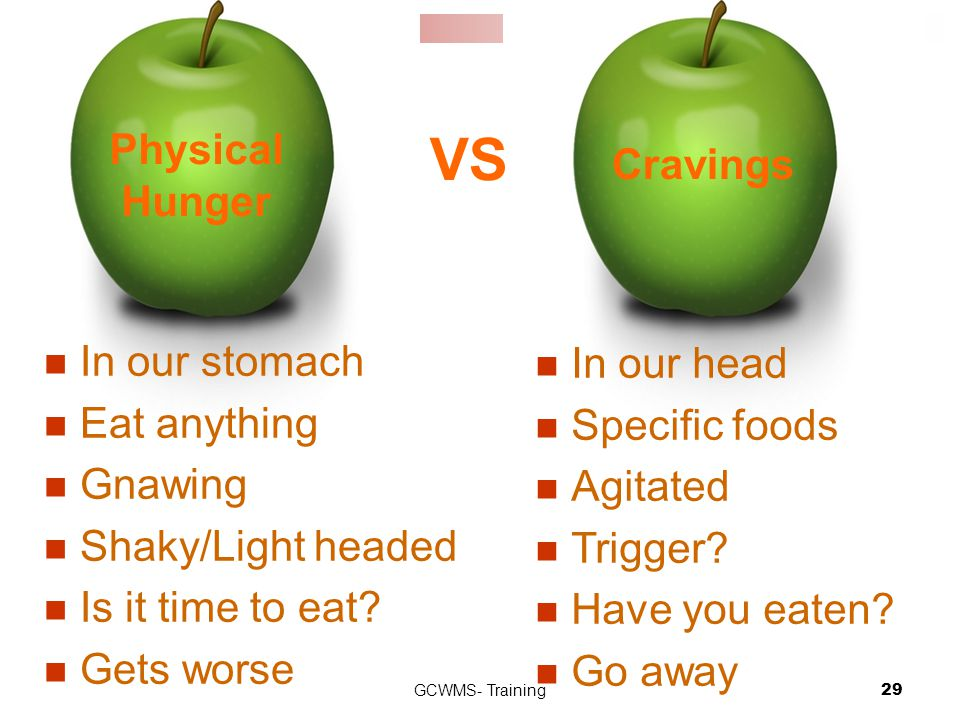 GCWMS- Training29 In our head Specific foods Agitated Trigger.