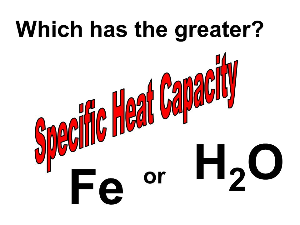 Which has the greater? Fe H2OH2O or