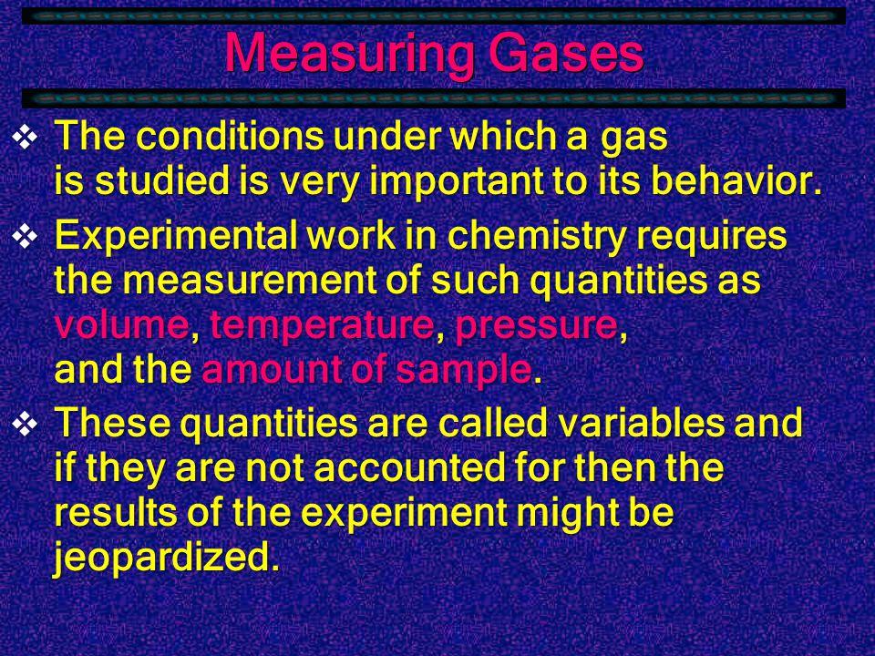 Characteristics of Gases