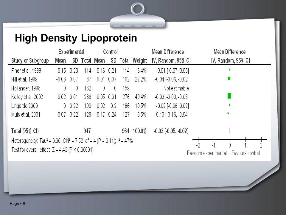 Page  8 High Density Lipoprotein