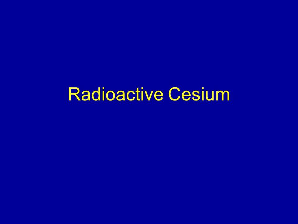 Radioactive Cesium