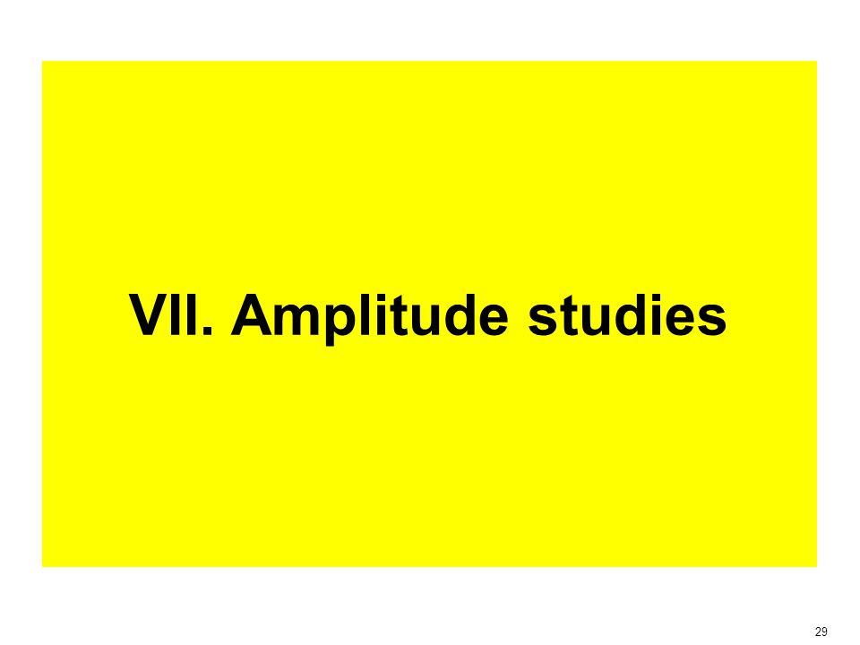 29 VII. Amplitude studies