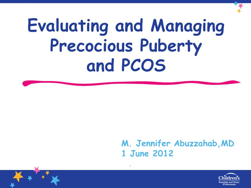 AGA infant, not at higher risk for precocious puberty, type 2 DM or PCOS.