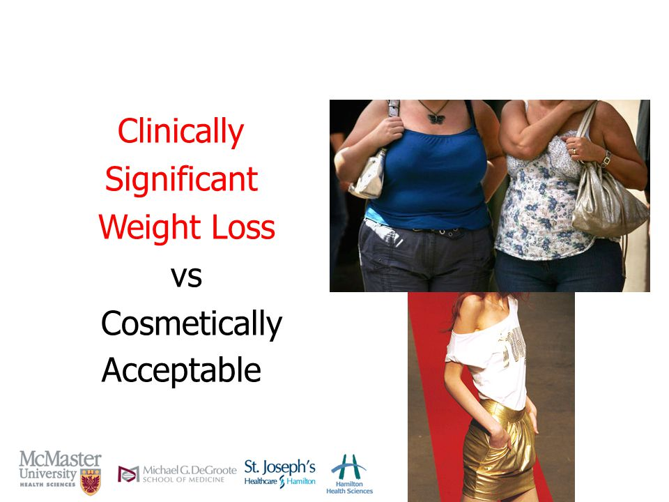 Clinically Significant Weight Loss vs Cosmetically Acceptable