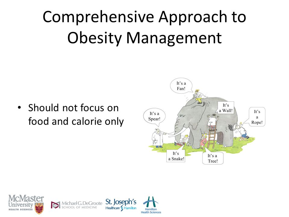 Comprehensive Approach to Obesity Management Should not focus on food and calorie only