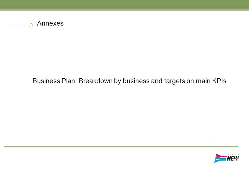 Annexes Business Plan: Breakdown by business and targets on main KPIs