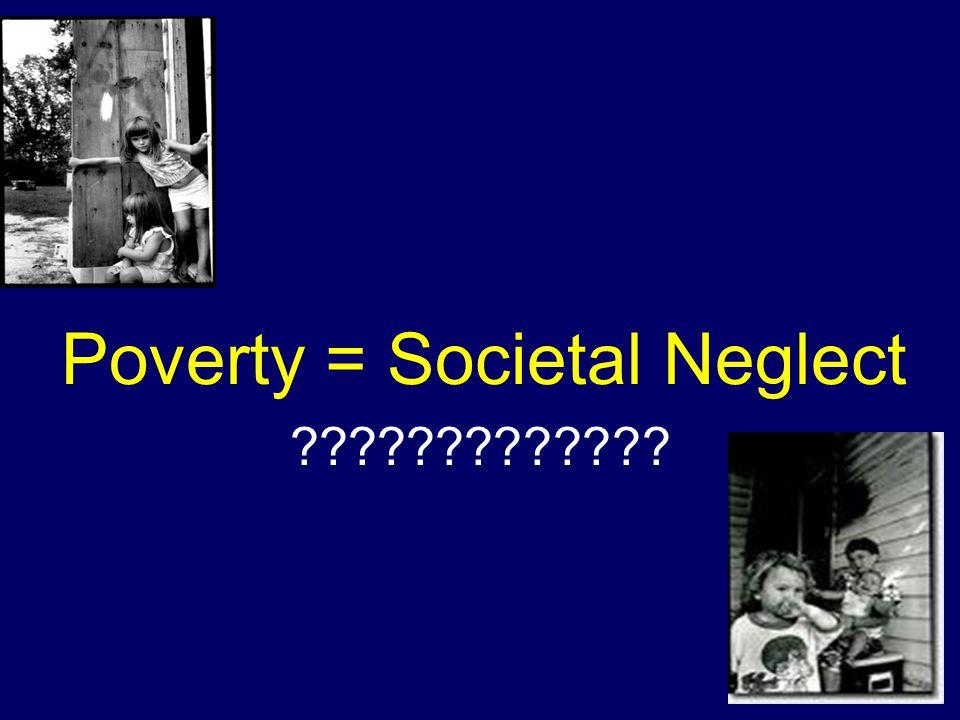 Poverty = Societal Neglect ?????????????