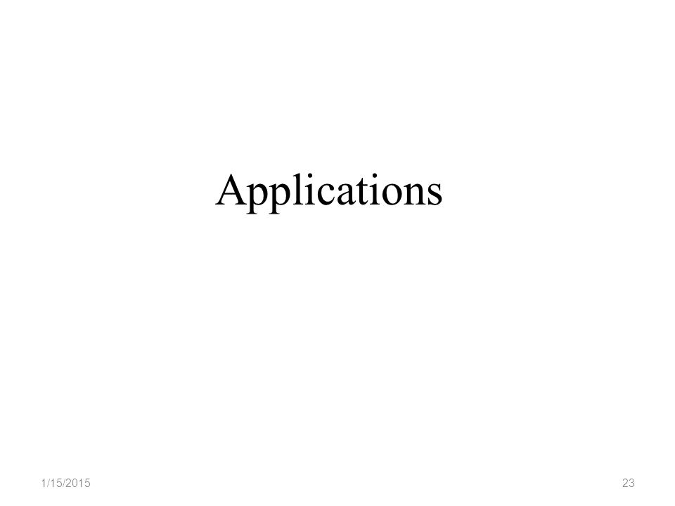 1/15/201523 Applications