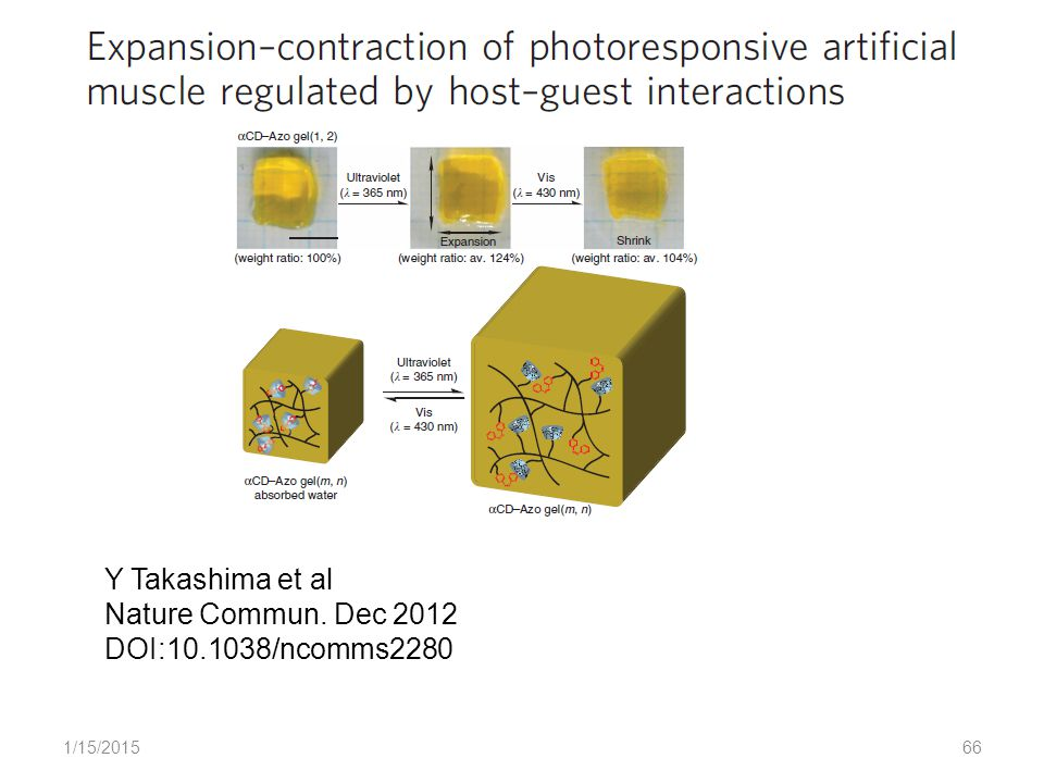 1/15/201566 Y Takashima et al Nature Commun. Dec 2012 DOI:10.1038/ncomms2280