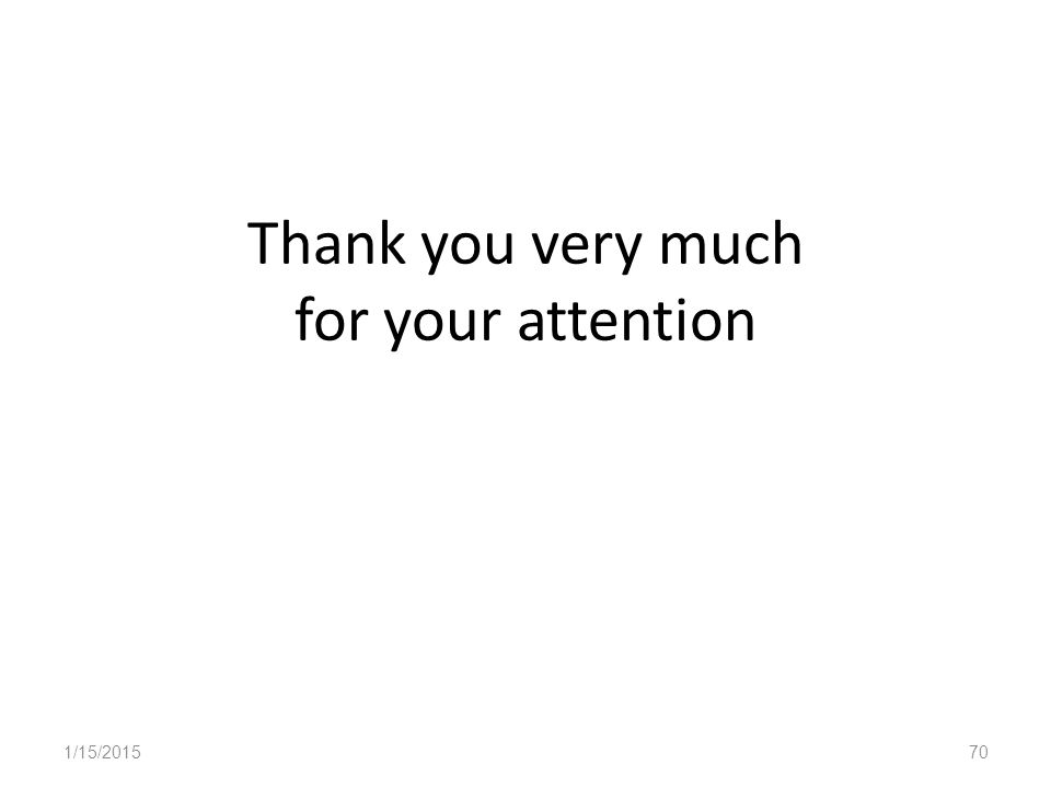 Thank you very much for your attention 1/15/201570
