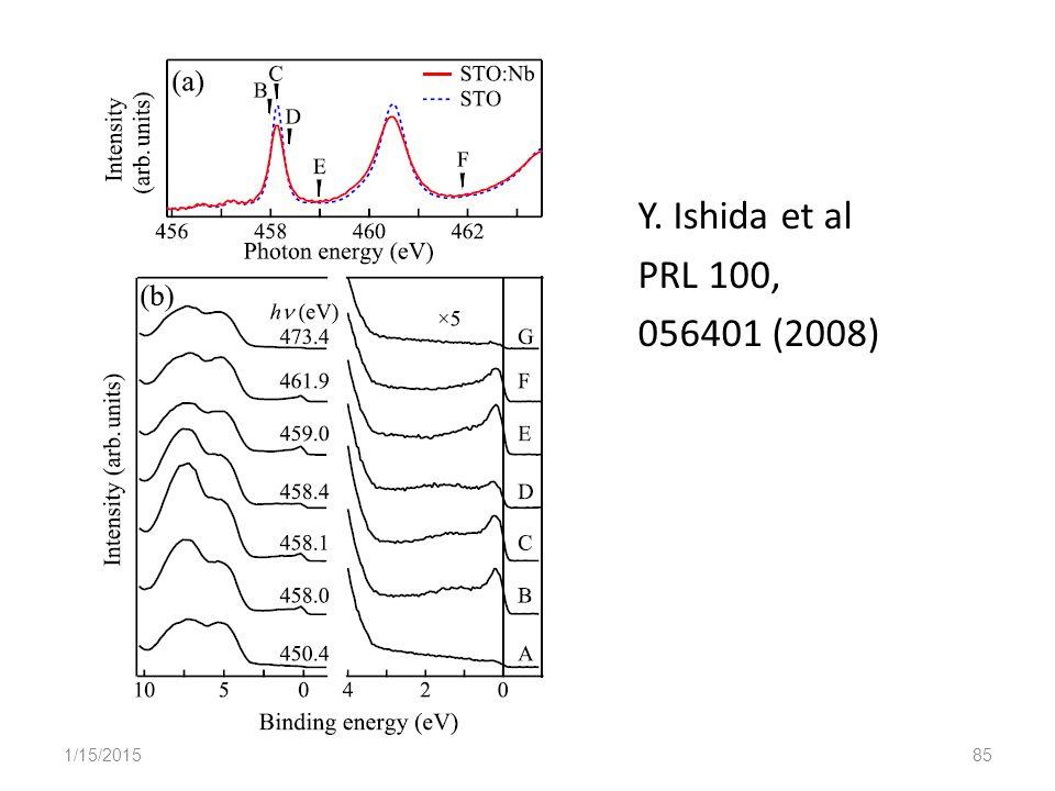 Y. Ishida et al PRL 100, 056401 (2008) 1/15/201585