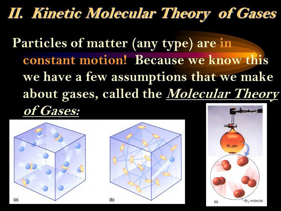 II.Kinetic Molecular Theory of Gases II.