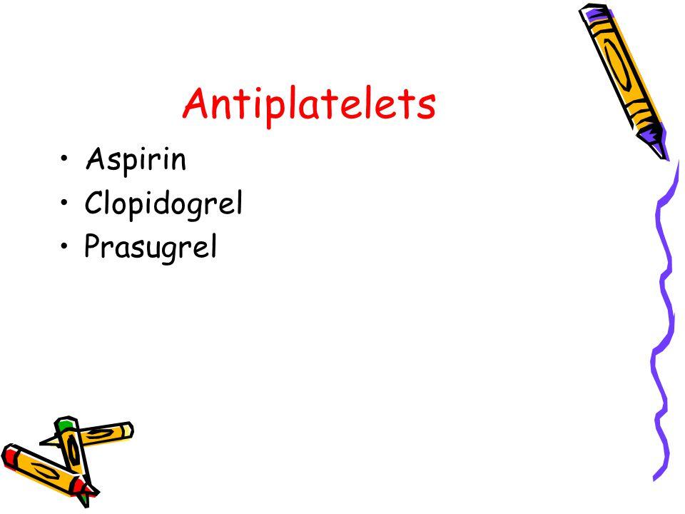 Antiplatelets Aspirin Clopidogrel Prasugrel