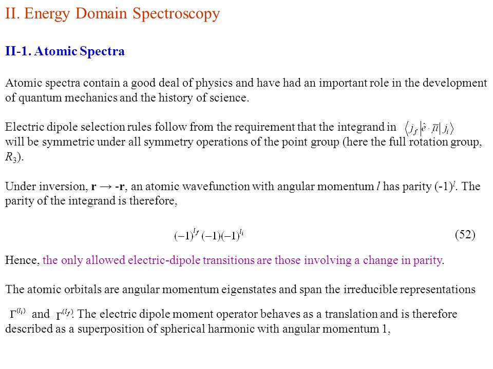 II.Energy Domain Spectroscopy II-1.