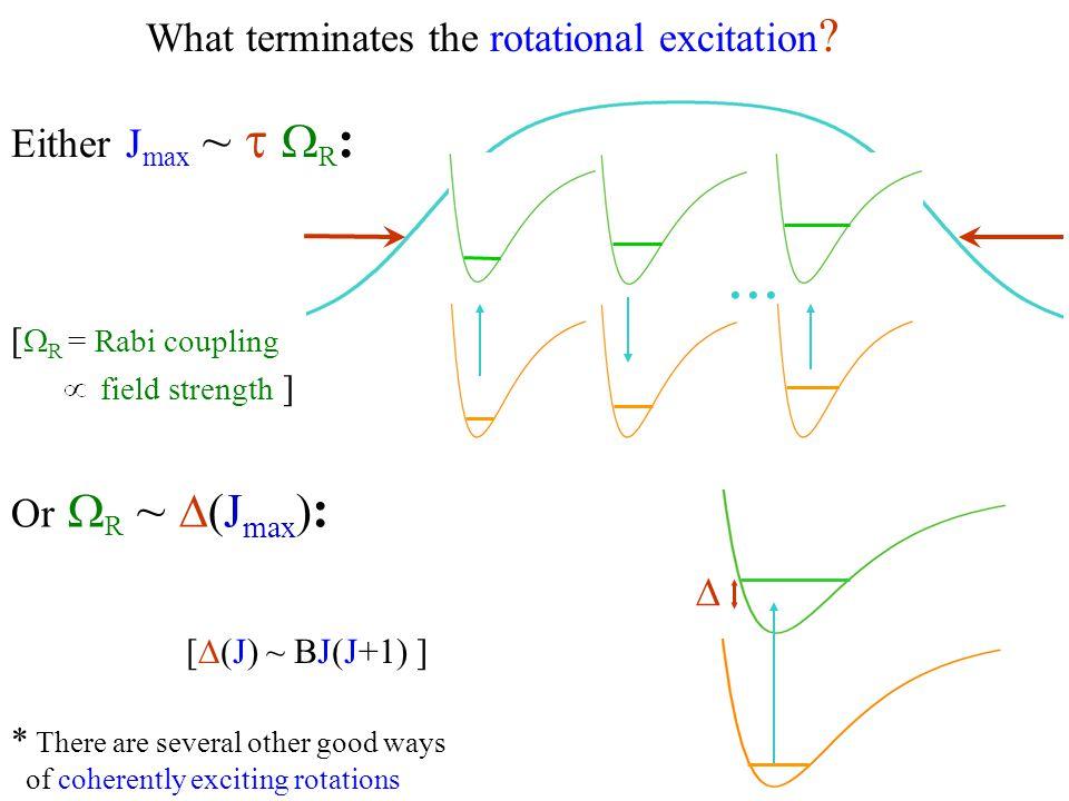 What terminates the rotational excitation .Or  R ~  (J max ) : [  (J) ~ BJ(J+1) ] ...