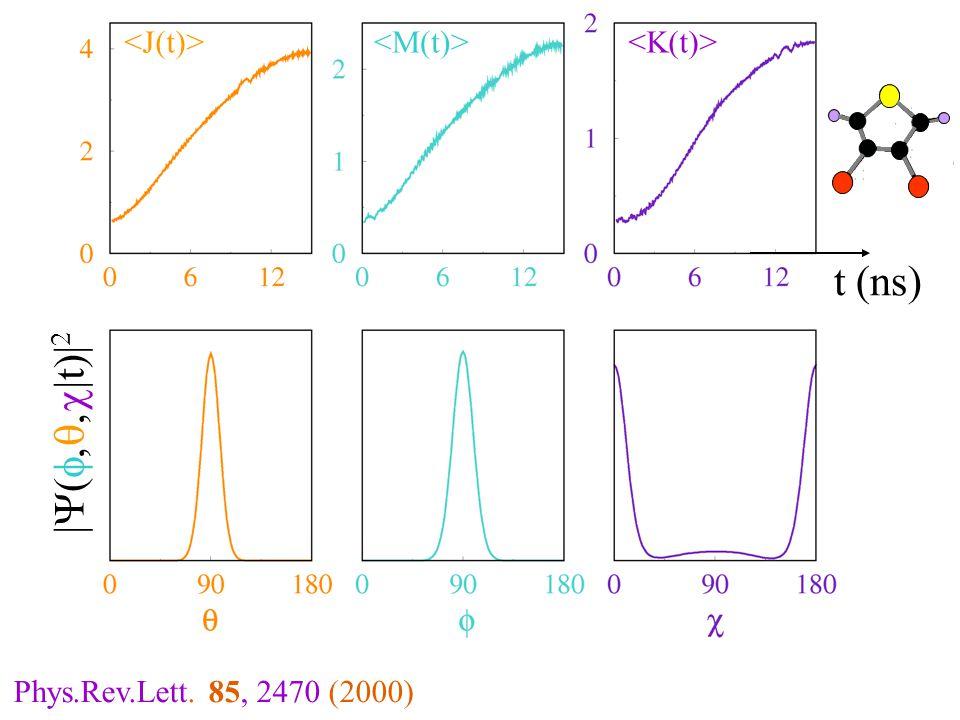 t (ns) |  t  | 2 Phys.Rev.Lett. 85, 2470 (2000)