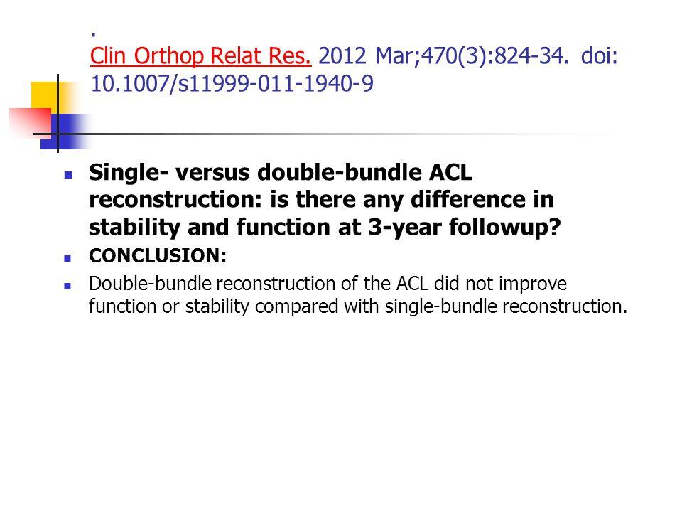 Clin Orthop Relat Res.2012 Mar;470(3):824-34.