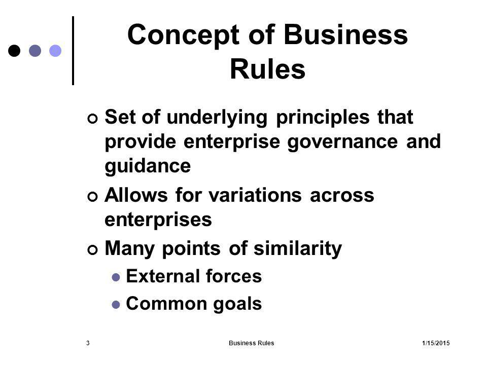 1/15/2015Business Rules54 Automated Discovery Data mining Code analysis Manual Automated