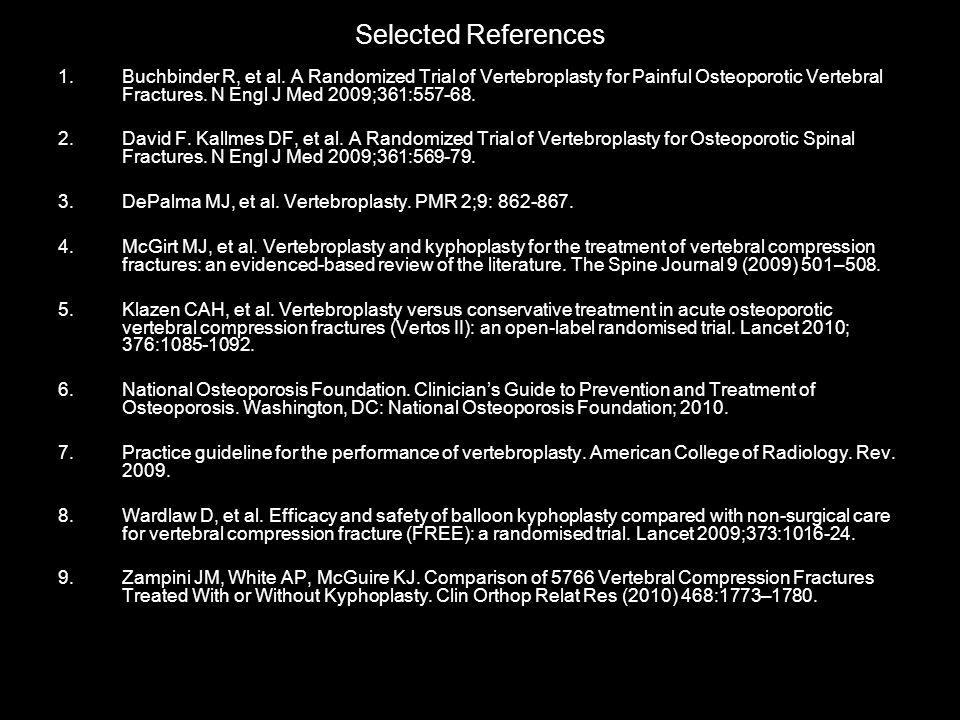 Selected References 1.Buchbinder R, et al.