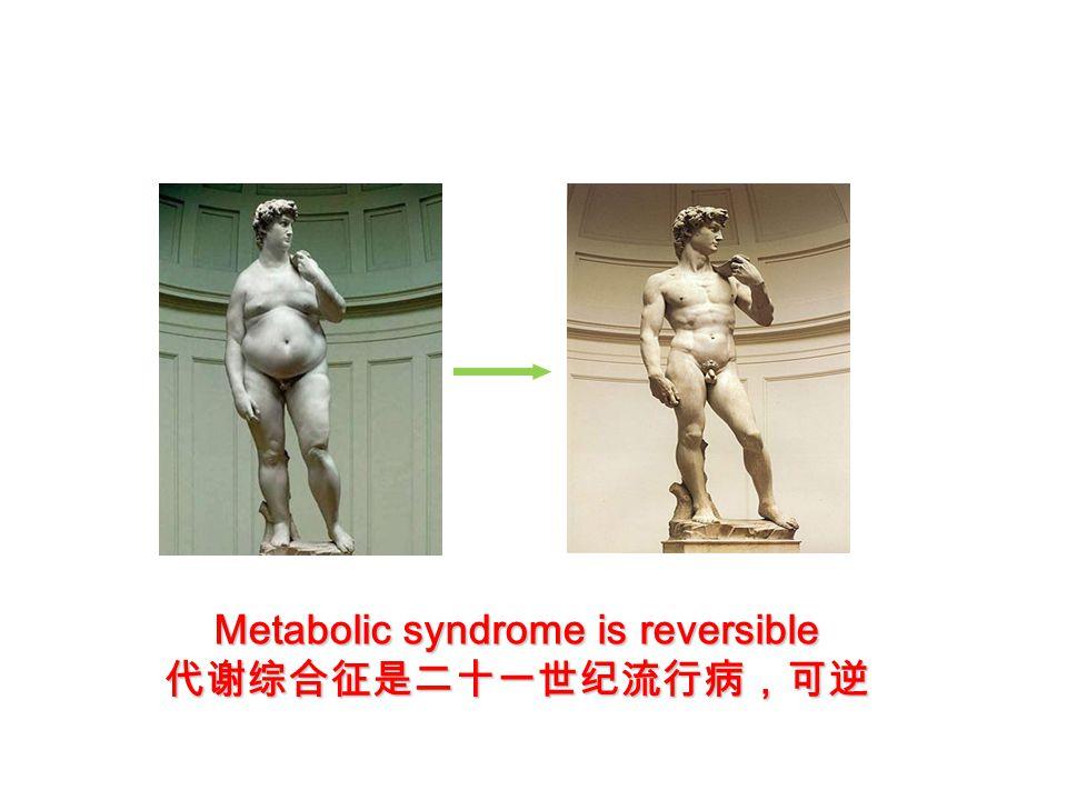 Metabolic syndrome is reversible 代谢综合征是二十一世纪流行病,可逆