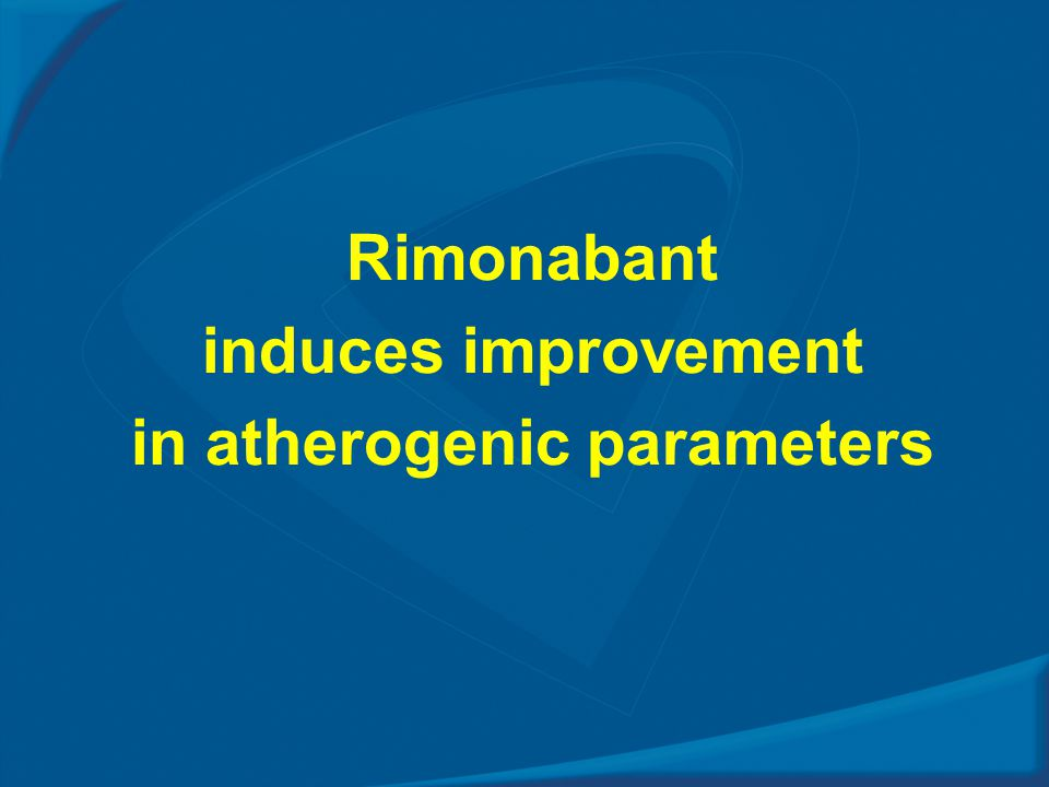 Rimonabant induces improvement in atherogenic parameters