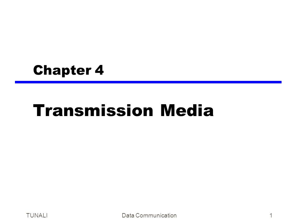 TUNALIData Communication32 Wireless Transmission Frequencies 1GHz to 40GHz —Microwave —Highly directional —Point to point —Satellite 30MHz to 1GHz —Omnidirectional —Broadcast radio 3 x 10 11 to 2 x 10 14 Hz —Infrared portion of the spectrum —Local point to point and multipoint applications within confined areas