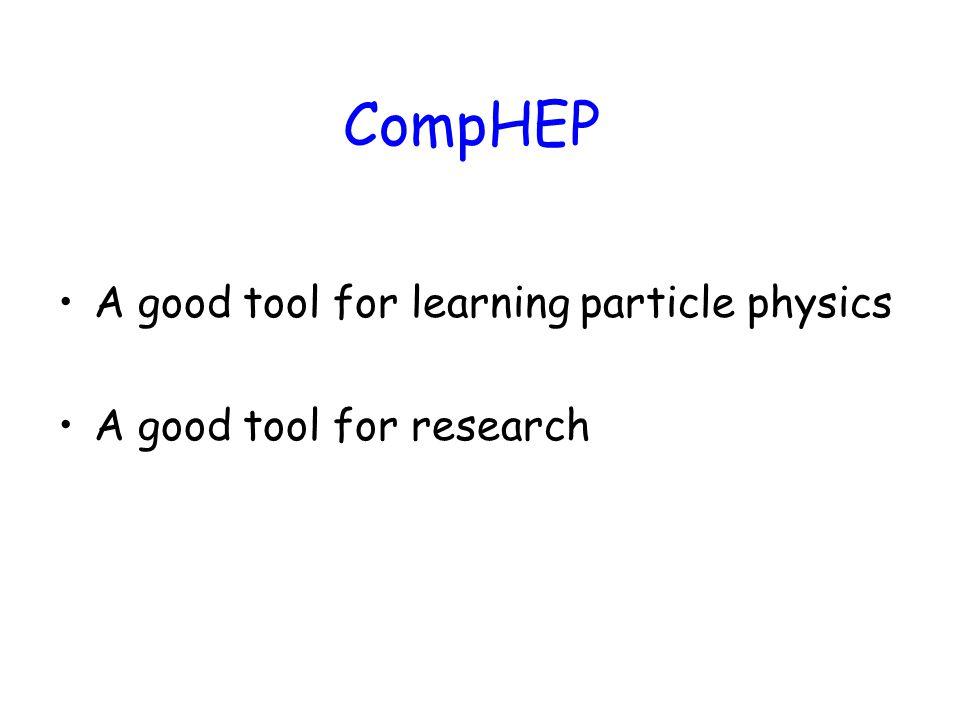 e + + e - μ + μ - TevatronLEP = 0.01627 CompHEP