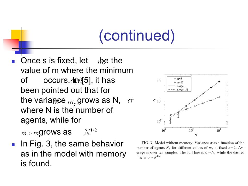 (continued) Once s is fixed, let be the value of m where the minimum of occurs.