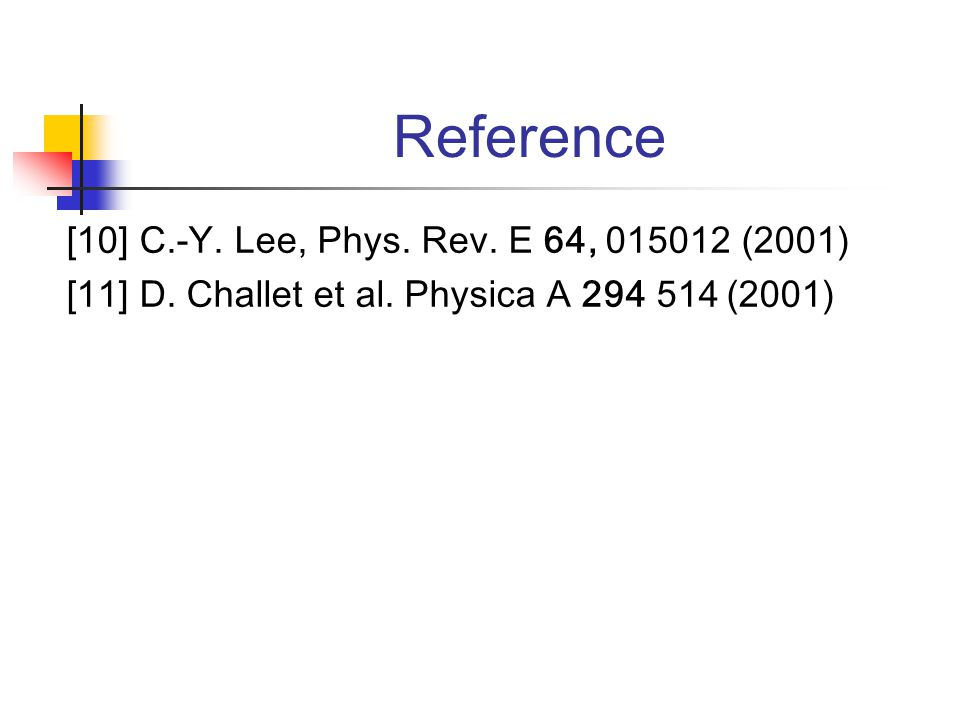 Reference [10] C.-Y. Lee, Phys. Rev. E 64, 015012 (2001) [11] D.
