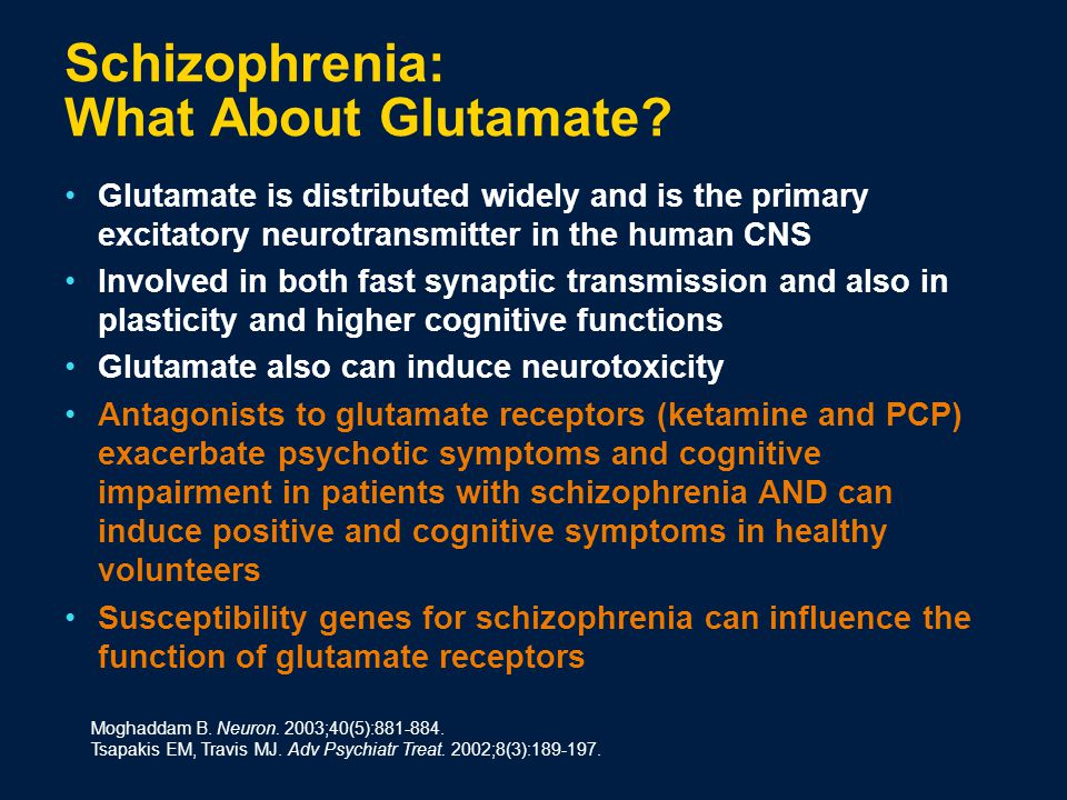 Schizophrenia: What About Glutamate.