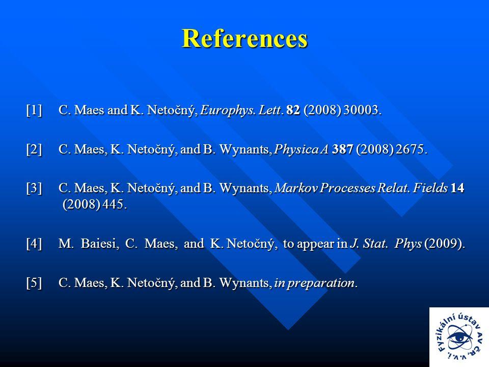 References [1] C. Maes and K. Netočný, Europhys.
