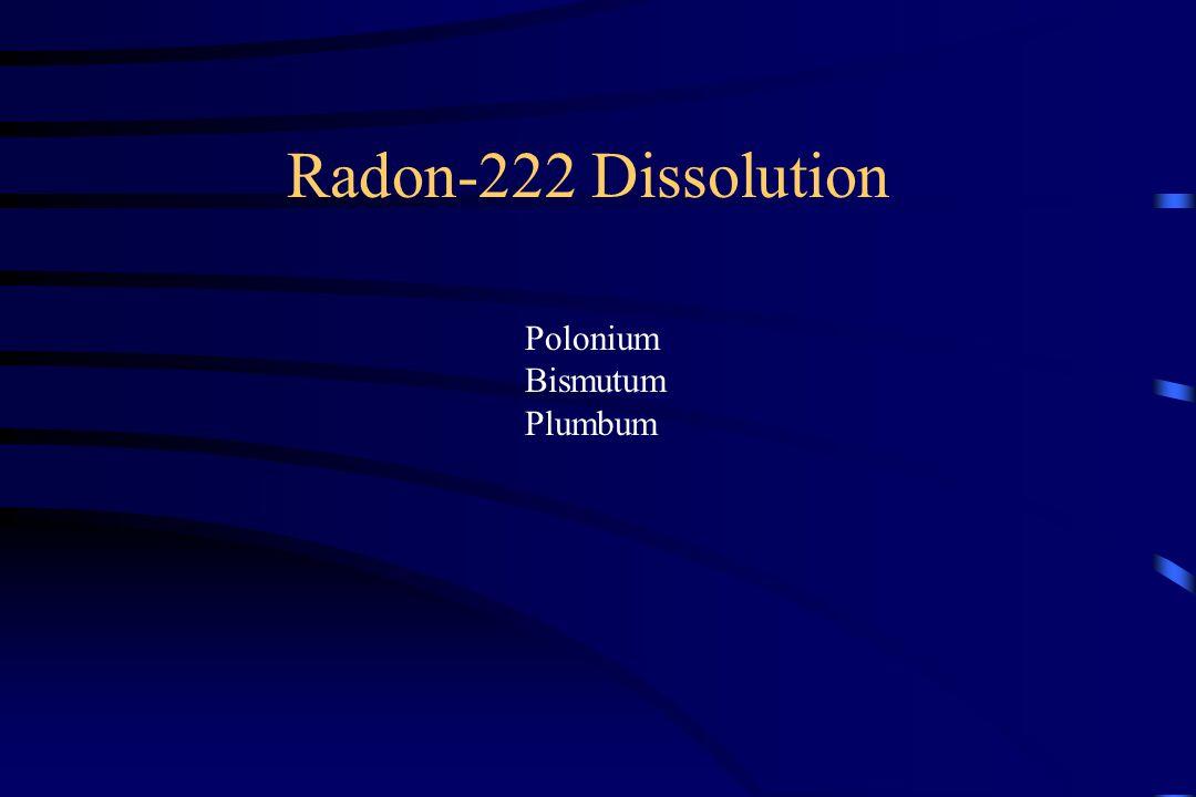 Radon-222 Dissolution Polonium Bismutum Plumbum