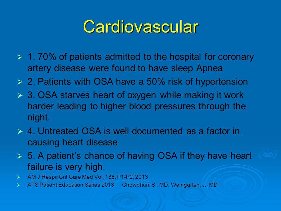 Cardiovascular   1.