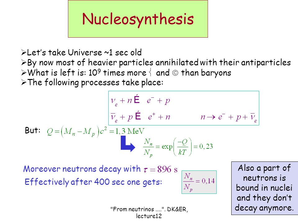 From neutrinos.... .