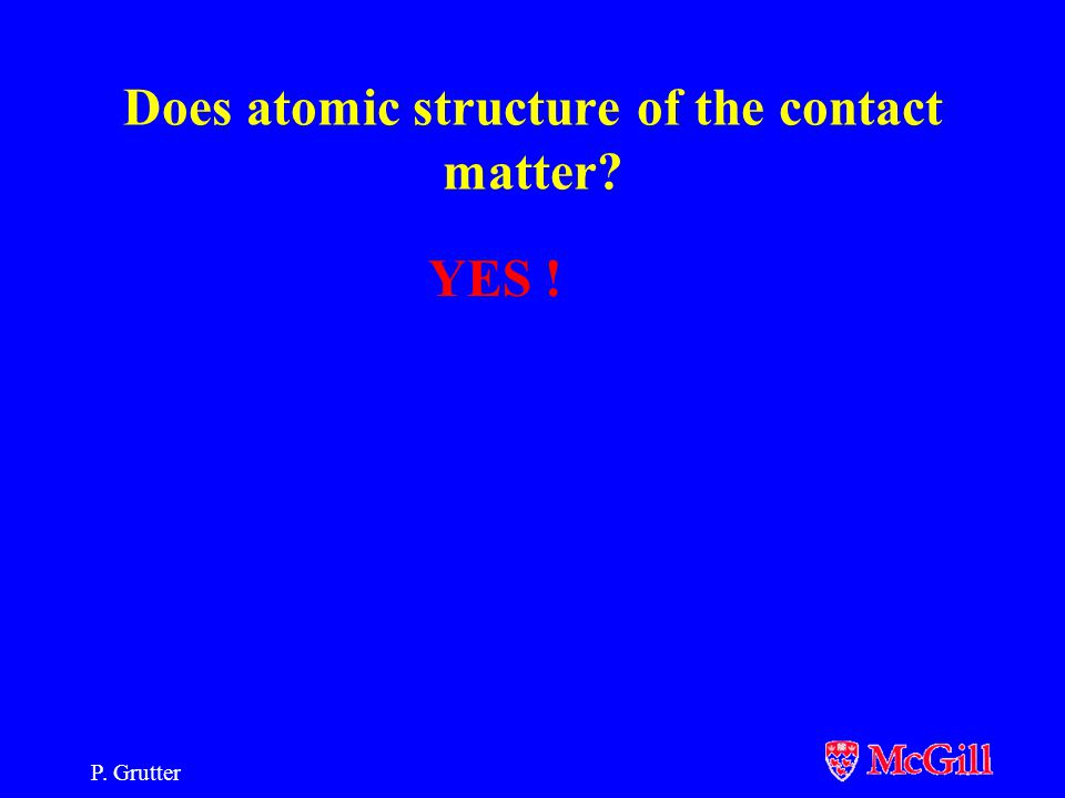 P.Grutter Does atomic structure of the contact matter.