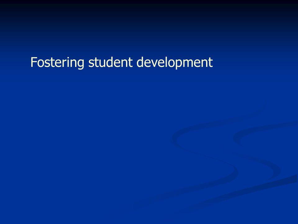 Fostering student development