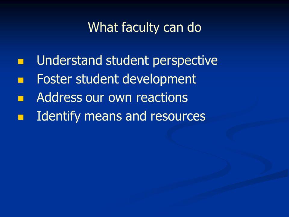 Understanding student perspective