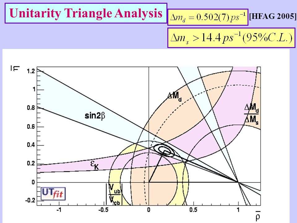 Unitarity Triangle Analysis [HFAG 2005]