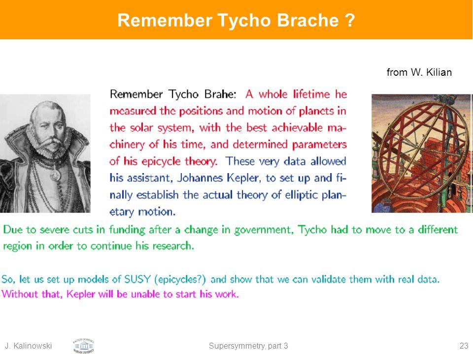 J. KalinowskiSupersymmetry, part 323 Remember Tycho Brache from W. Kilian