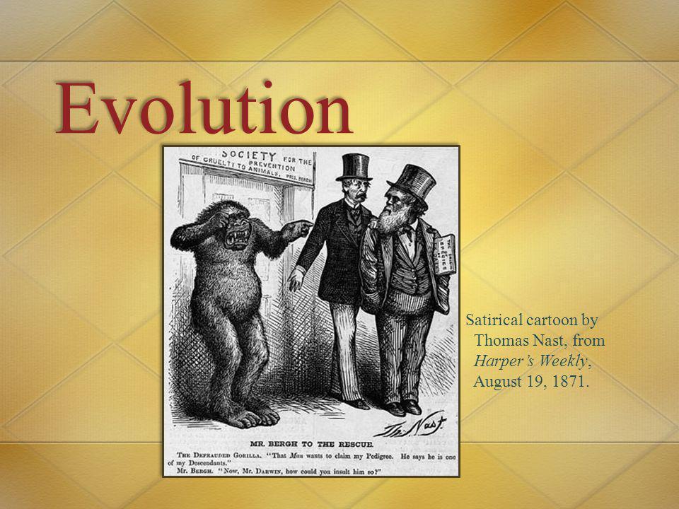 Evolution Satirical cartoon by Thomas Nast, from Harper's Weekly, August 19, 1871.