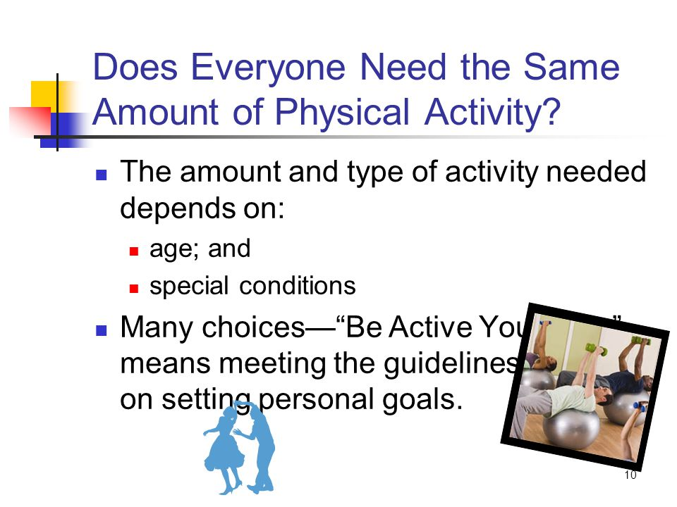 10 Does Everyone Need the Same Amount of Physical Activity.
