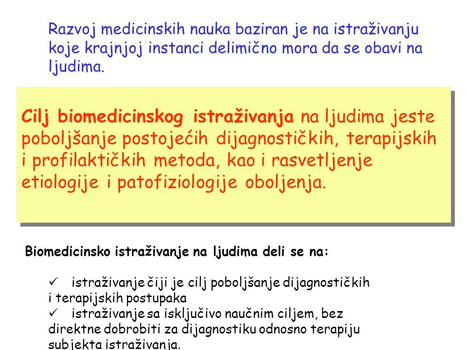Vrste kliničkih istraživanja Opservaciona Intervenciona Vrste kliničkih istraživanja